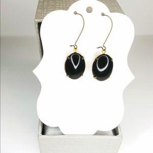 ♡ 2 for 20$ ♡ Jet Black Pendant Earrings